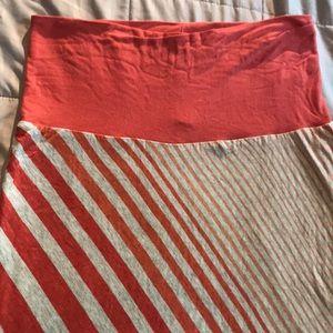 Stripe Super Soft Knit Maxi Skirt